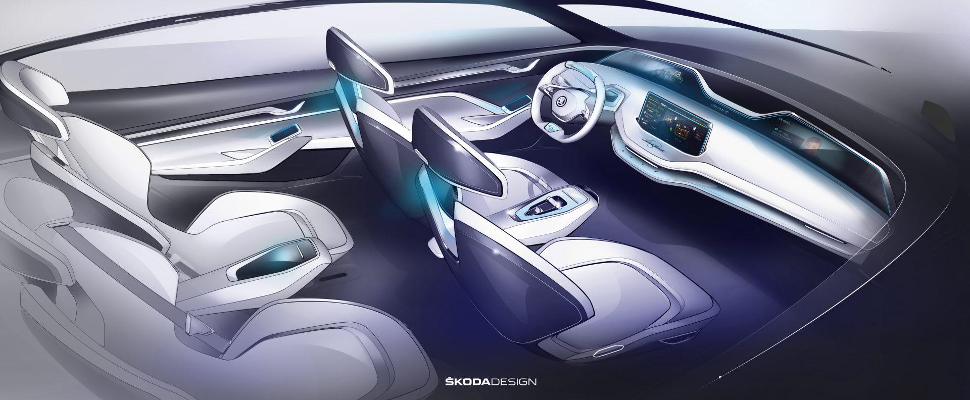 ŠKODA previews interior of VISION E