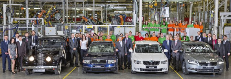 ŠKODA produces one million SUPERBs and 250,000 of the third generation