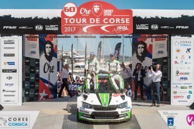 Korsická rally: jasné vítězství Andrease Mikkelsena ŠKODA drží první dvě místa v celkovém hodnocení třídy WRC 2