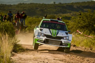 Rally Argentina: Pontus Tidemand and Jonas Andersson take the lead on day one in their ŠKODA FABIA R5