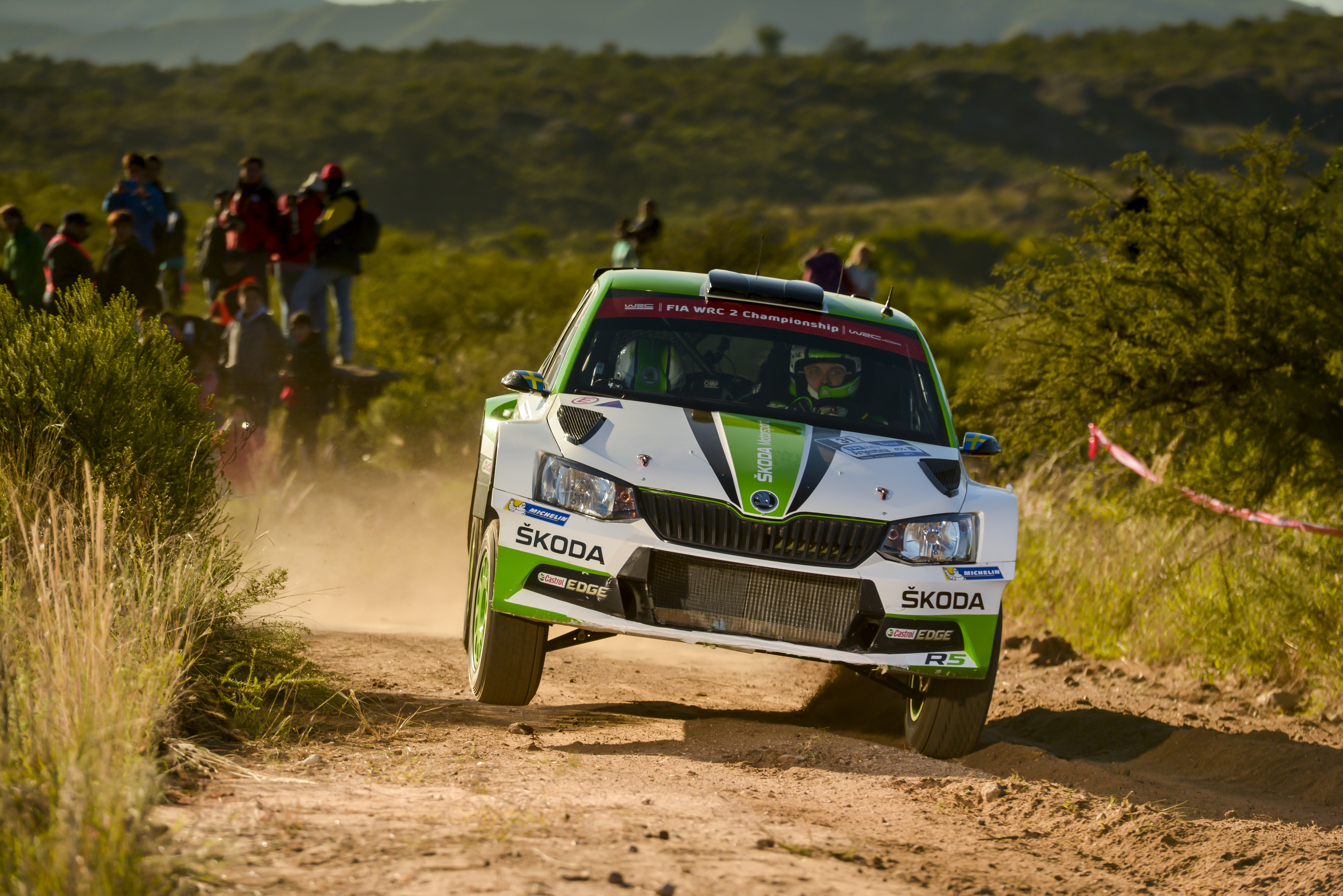 Rally Argentina Pontus Tidemand and Jonas Andersson take the lead
