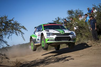 Rally Argentina: Pontus Tidemand/Jonas Andersson controlling the lead in their ŠKODA FABIA