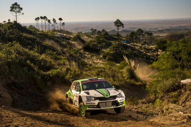 Winning Rally Argentina Pontus Tidemand/Jonas Andersson take outright lead in WRC 2 with their ŠKODA FABIA R5