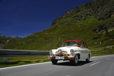 Vintage cars & Alpine scenes:  ŠKODA sends two cult cars to the Bodensee Klassik