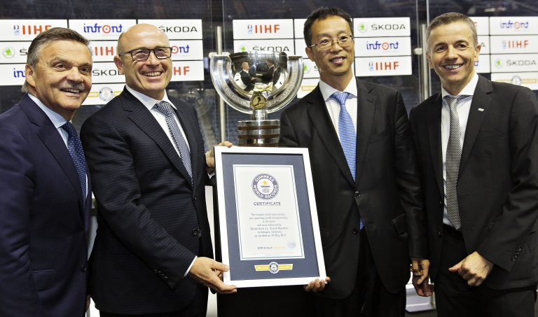 ŠKODA extends its partnership as official main sponsor of IIHF World Championship