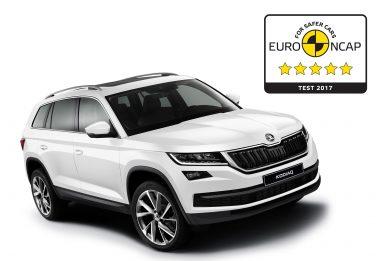 ŠKODA KODIAQ získala pět hvězd od Euro NCAP za bezpečnost