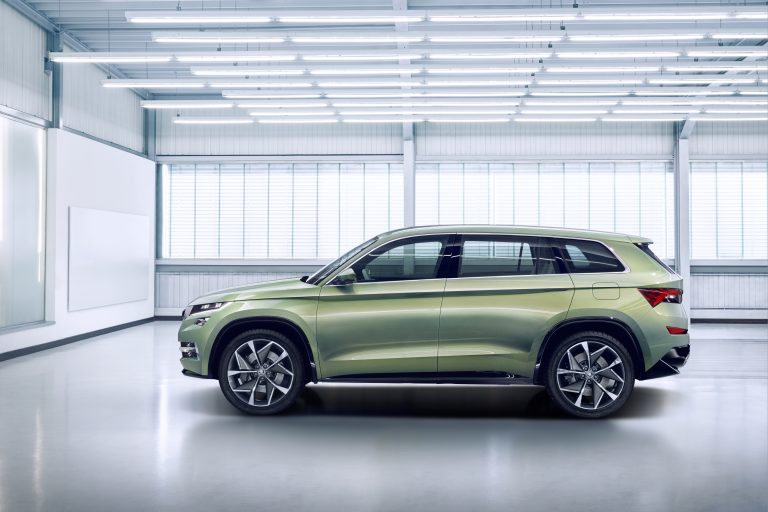 ŠKODA exhibits the VisionS show car in Geneva