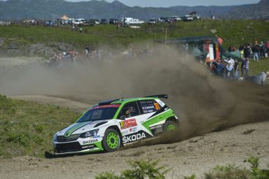 Rally Portugal: Double lead for ŠKODA FABIA R5 with Andreas Mikkelsen and Pontus Tidemand