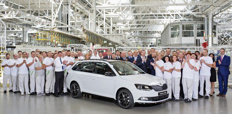Dvojité jubileum: ŠKODA slaví čtyři miliony vyrobených vozů řady FABIA a 500 000. exemplář třetí generace