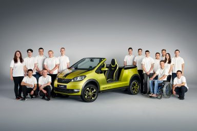 ŠKODA ELEMENT: ŠKODA students build electric buggy