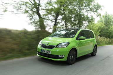 ŠKODA CITIGO: small, nimble and charming, with a new front section and dark-framed tail lights