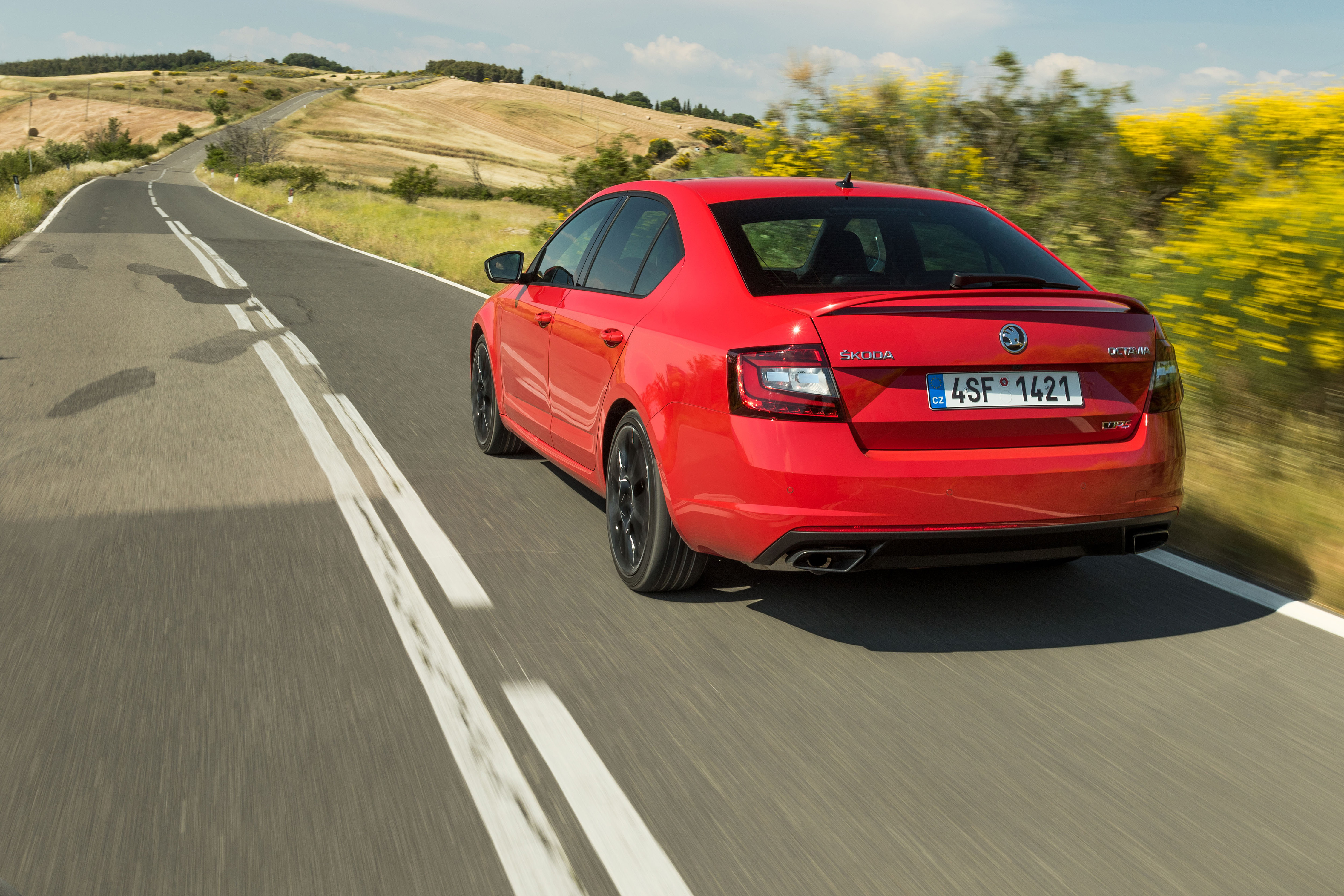 Koda Octavia Rs 245 Sporty Spacious And Practical Press Kit Led Driven Tail Brake Light Cluster