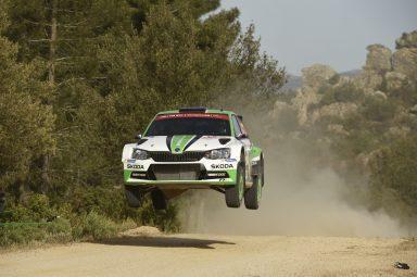 Rally Italia Sardegna: Kopecký/Dresler increased WRC 2  lead moving into ninth overall with ŠKODA FABIA R5