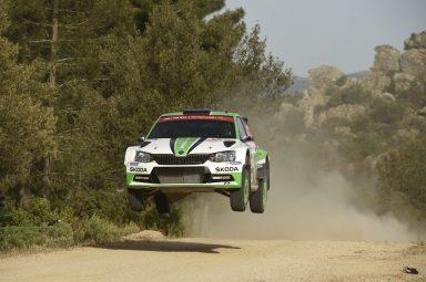 Italská rally na Sardinii: Kopecký/Dresler navýšili své vedení v kategorii WRC 2 a jsou celkově s vozem ŠKODA FABIA R5 na devátém místě