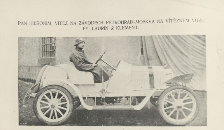 The first victory of L&K car, 1908