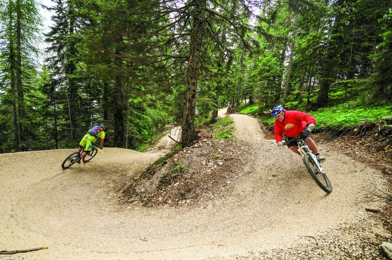 Mountain bike trail in Carinthia