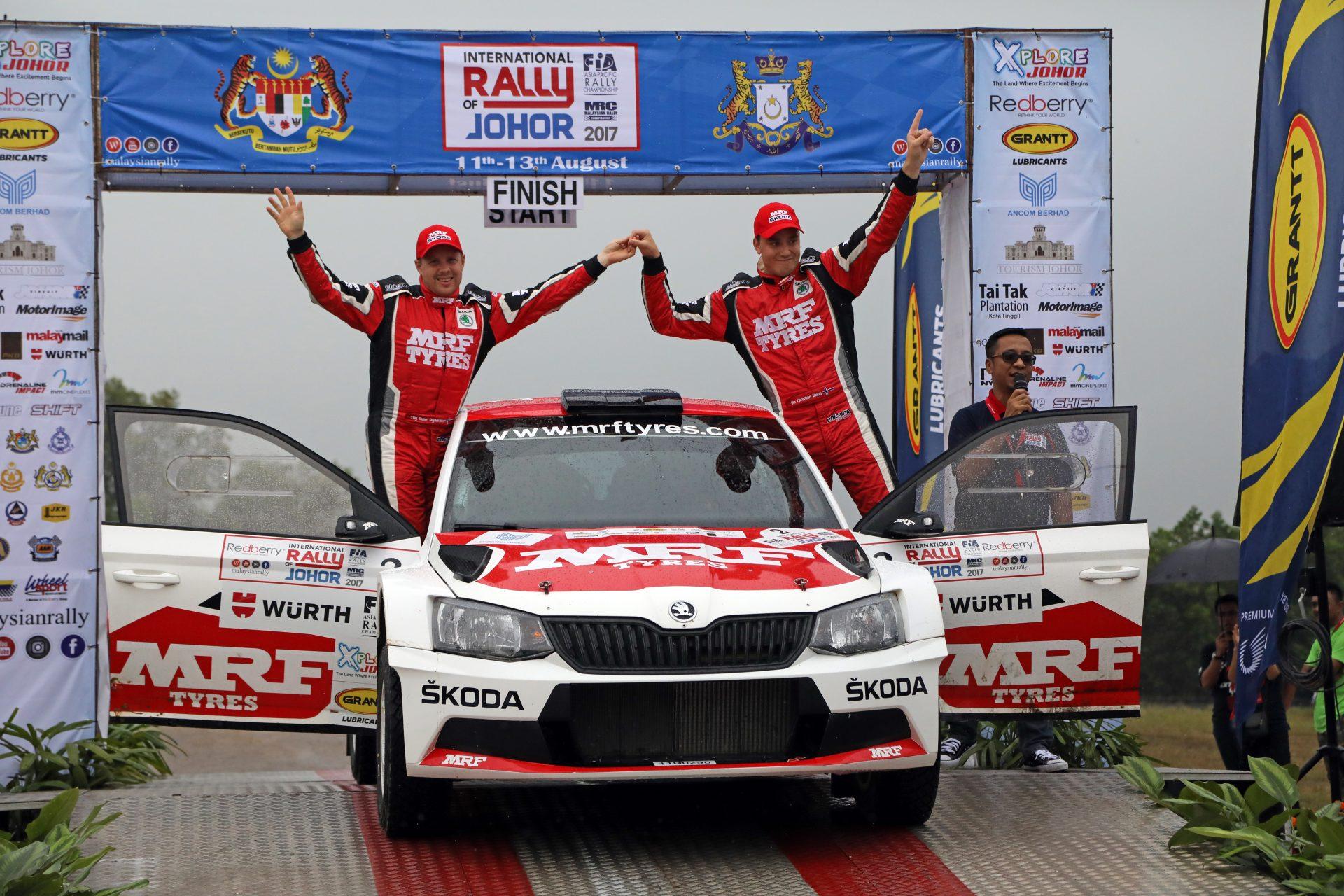 APRC in Malaysia: Second win for Ole Christian Veiby ahead of MRF ŠKODA teammate Gaurav Gill