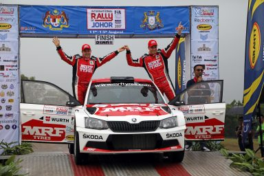 APRC in Malaysia: Second win for Ole Christian Veiby ahead of MRF ŠKODA teammate Gaurav Gill