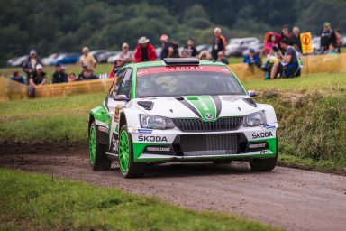 ADAC Rallye Deutschland: Jan Kopecký and Pontus Tidemand with double lead for ŠKODA