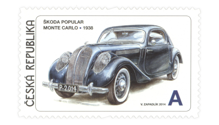ŠKODA cars on postage stamps