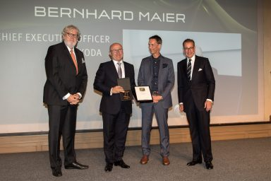 ŠKODA AUTO CEO Bernhard Maier voted Brand Manager of the Year 2017