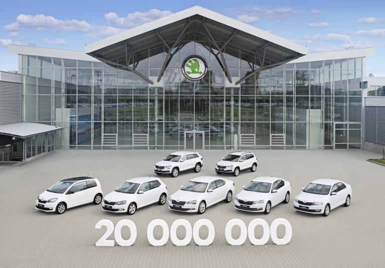 ŠKODA AUTO dosáhla milníku v podobě 20 milionů vyrobených automobilů