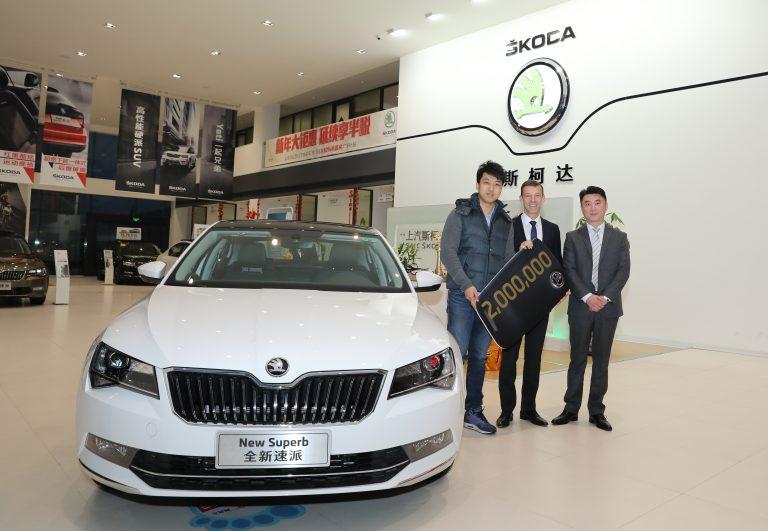 ŠKODA v Číně prodala  dvoumiliontý vůz