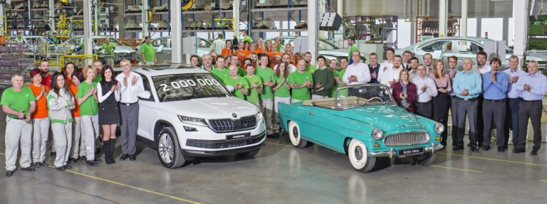 Two million cars made in the factory in Kvasiny