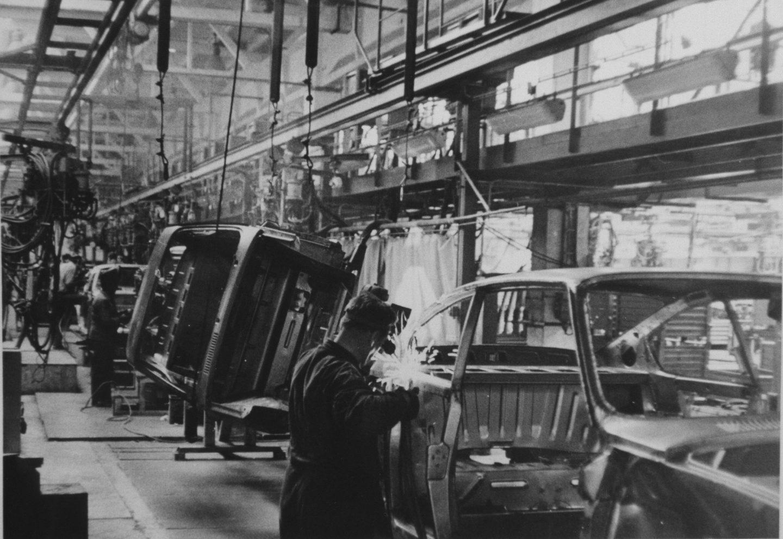 Práce ve svařovně v 70. letech