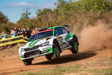 WRC Spain: Challenging first day for ŠKODA Jan Kopecký third and Juuso Nordgren fifth