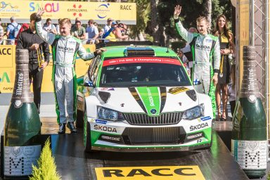 WRC Spain: Kopecký fastest on tarmac, storms to second in WRC 2 – youngster Nordgren fourth