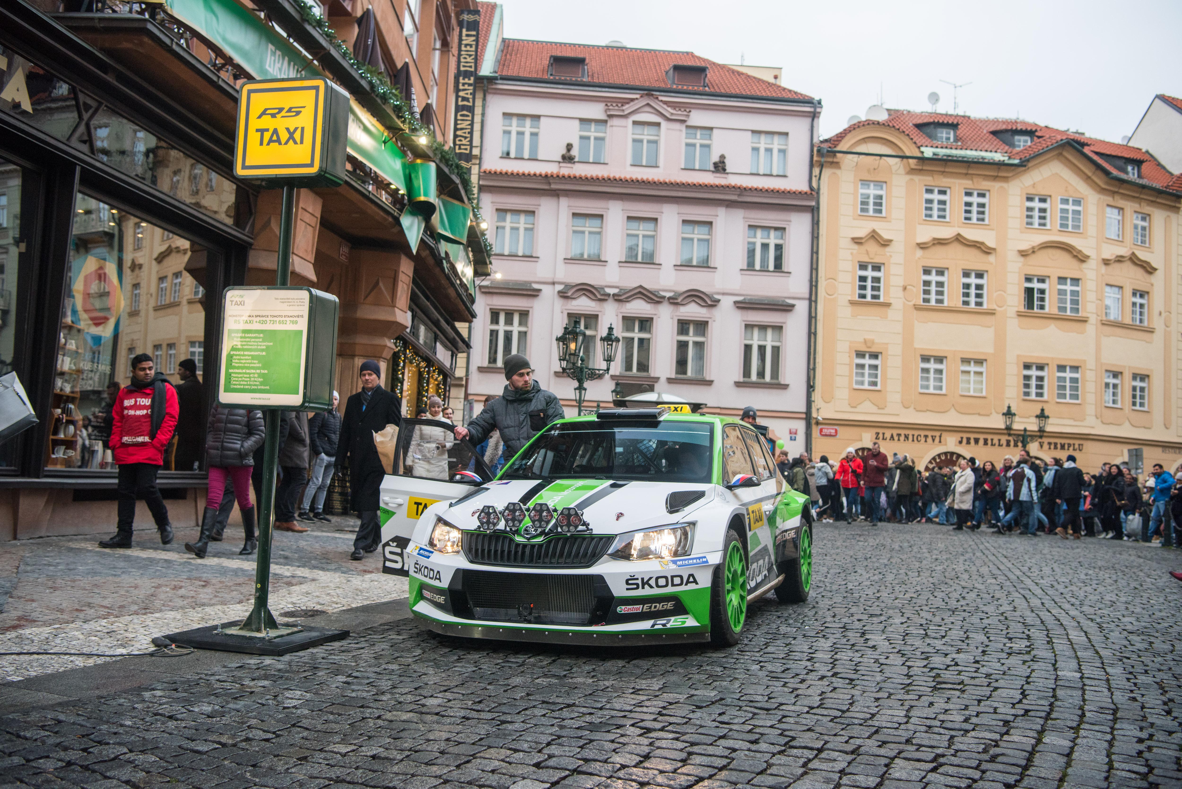 Taxi Taxi The Zesty Fabia R5 Raced Passengers Through Prague