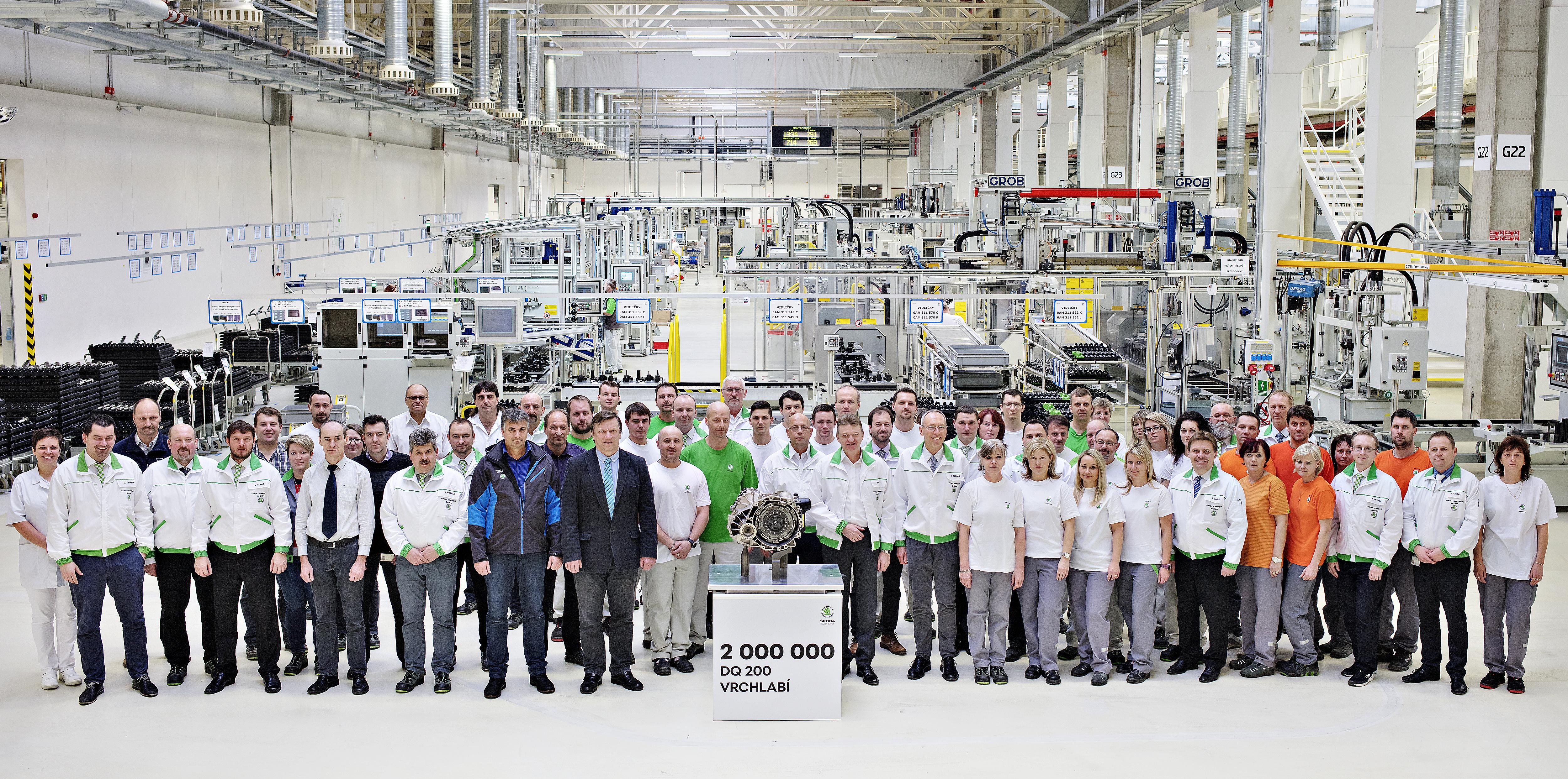 ŠKODA AUTO produces two-millionth DQ 200 dual-clutch