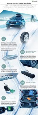 Infografics: Ready for winter with ŠKODA accessories