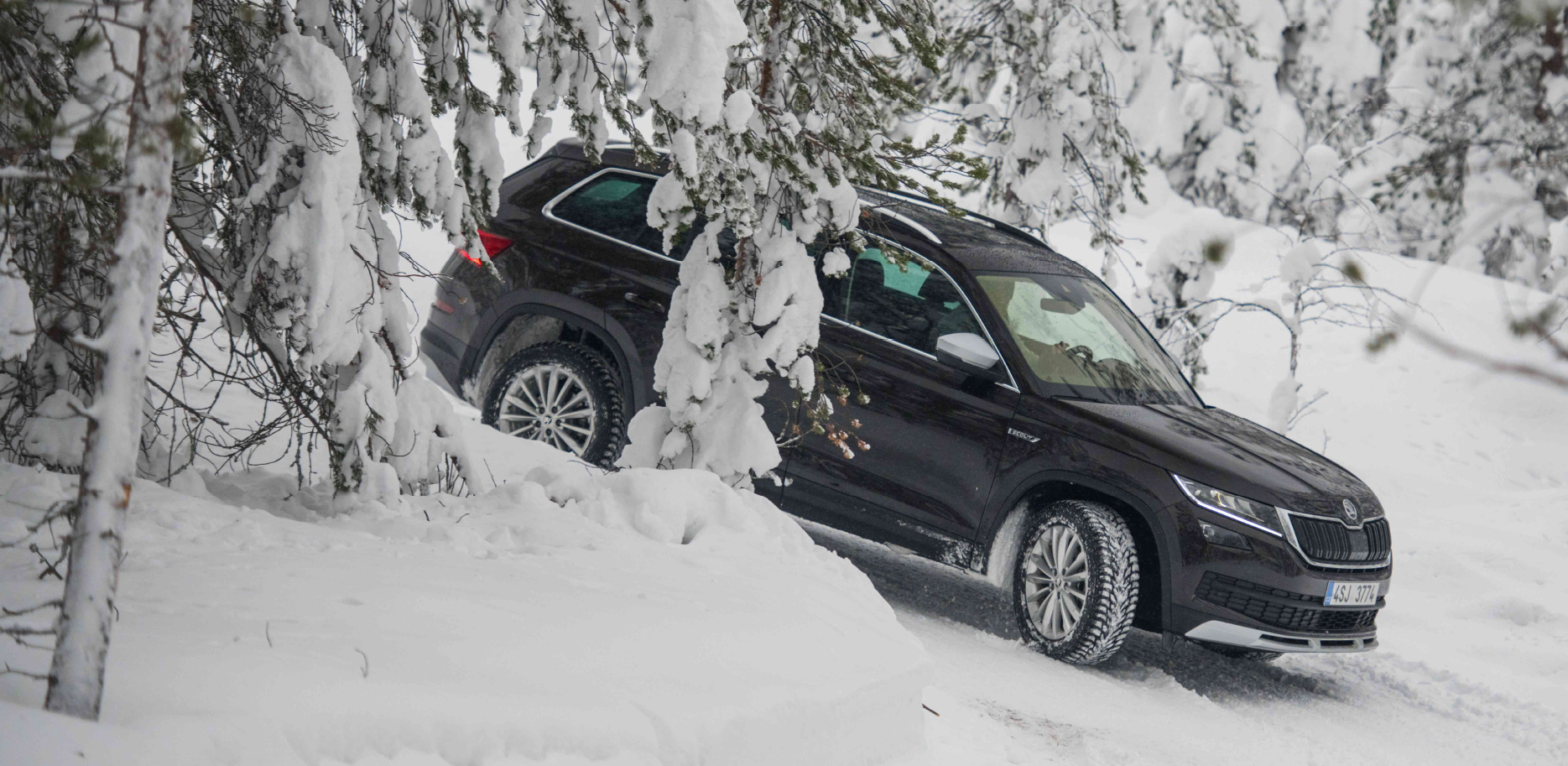 A School Of Driving On Ice And Snow Karoq And Kodiaq Won