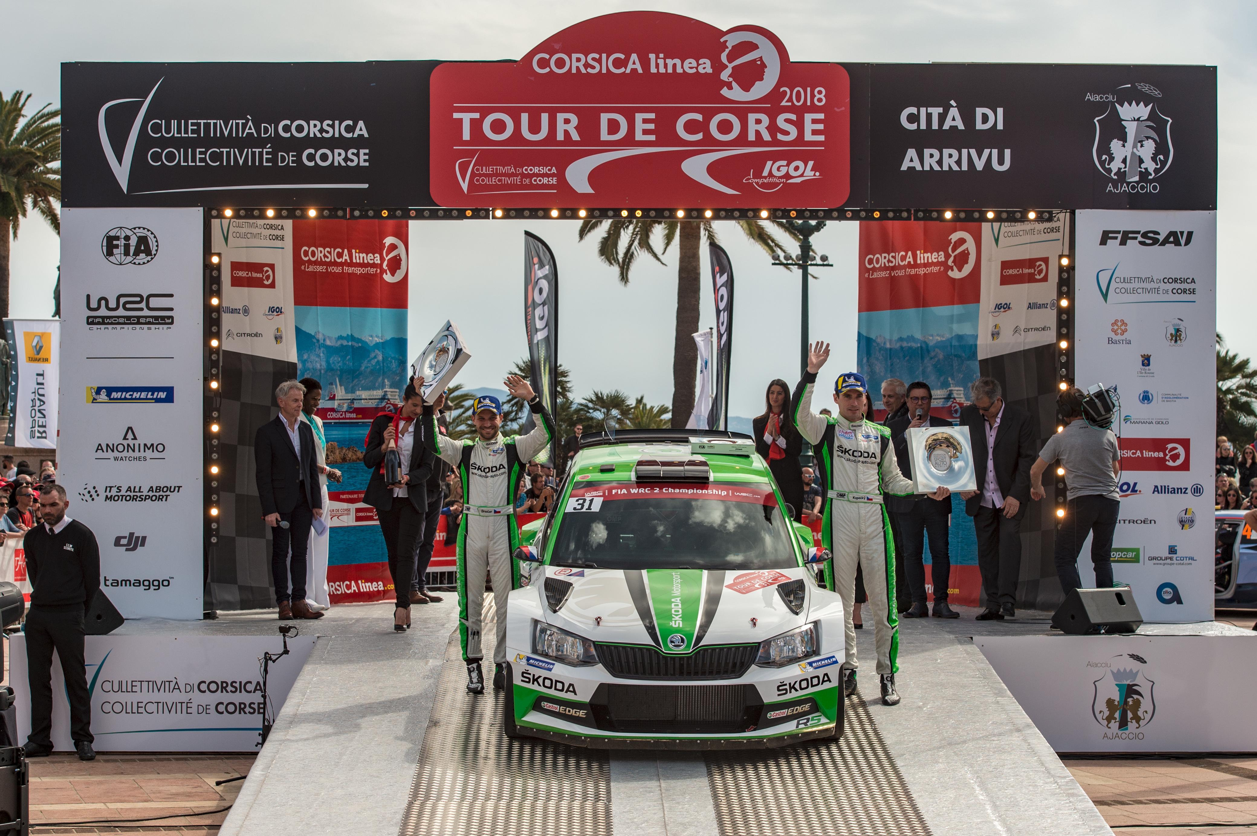 Jan Kopecký and ŠKODA with dominant WRC 2 win at Rally France/Tour ...