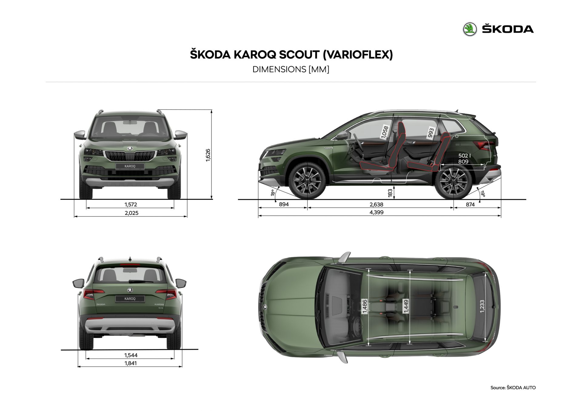 skoda karoq sportline e scout 2019 presentazioni automobili e nuovi modelli autopareri. Black Bedroom Furniture Sets. Home Design Ideas
