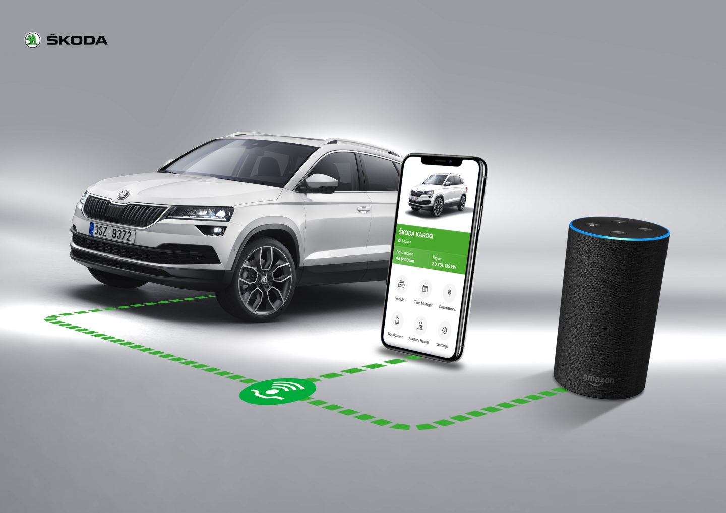 Alexa in ŠKODA Connect is becoming trilingual
