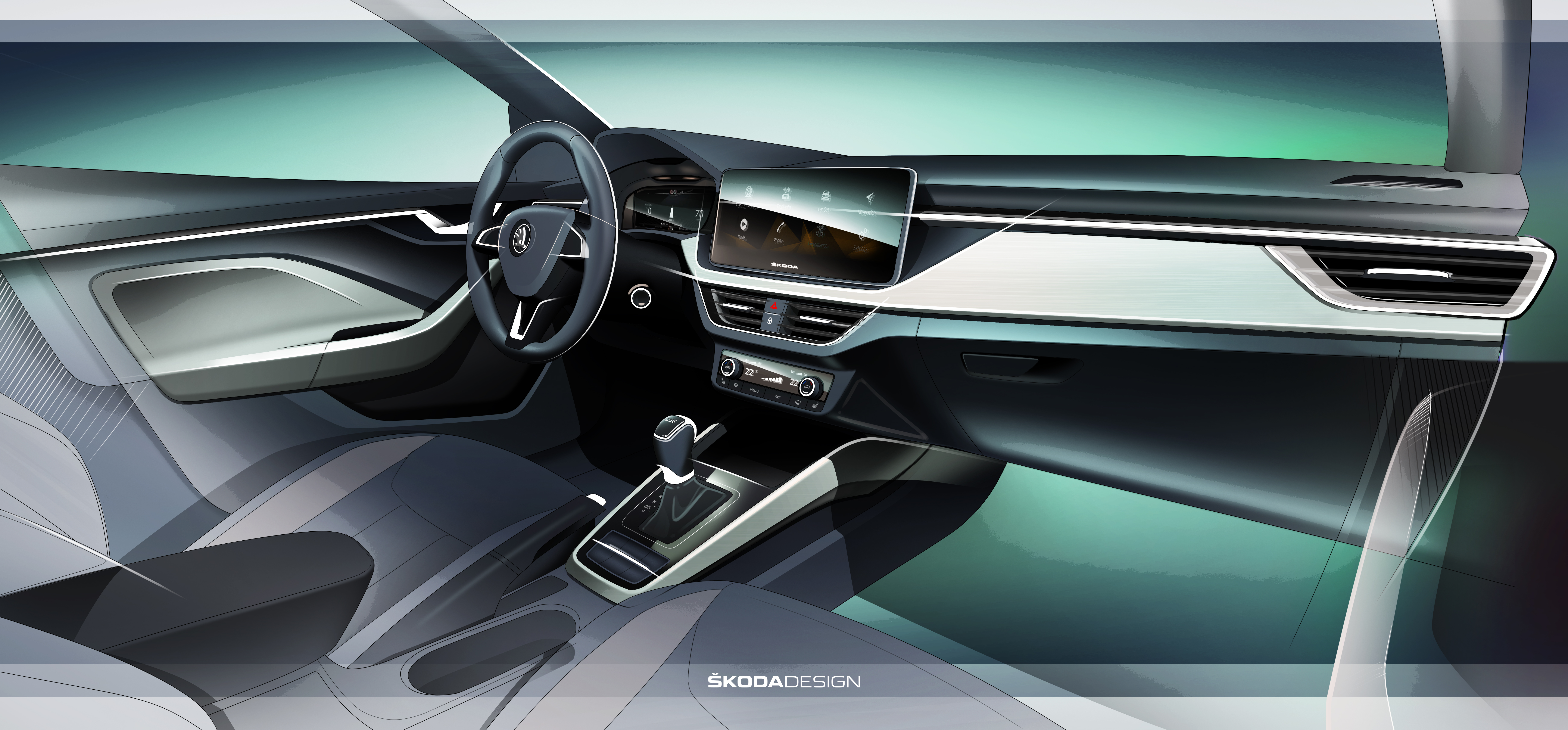 škoda scala with new interior concept škoda storyboard