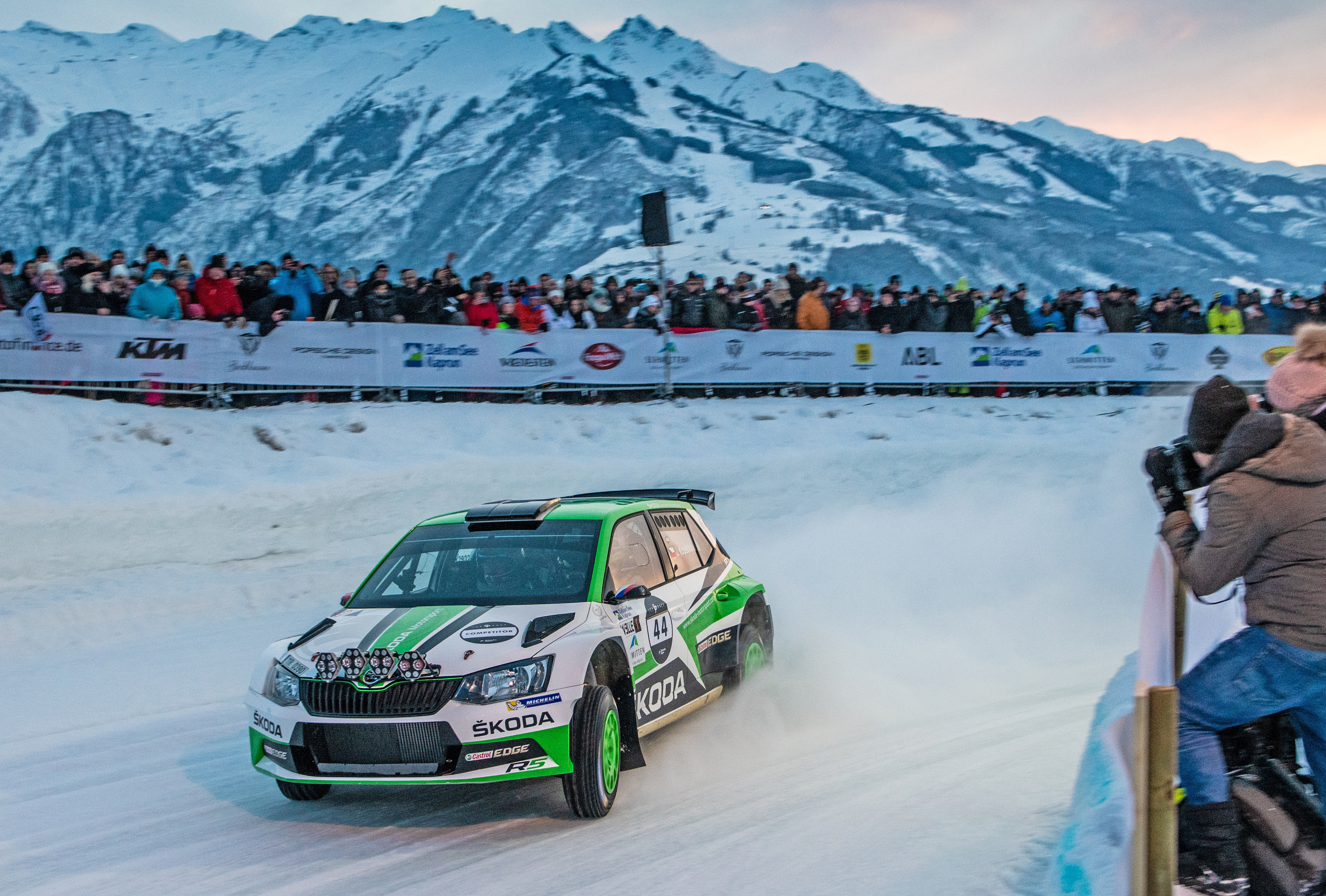 """SKODA features own """"Ice Race of Champions"""" at Austrian winter-sport resort in Zell am See-Kaprun - Image 2"""