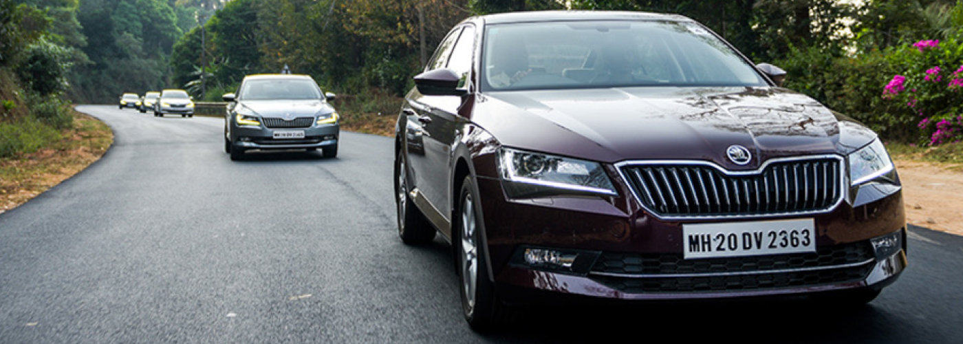 Skoda-Superb-road-India