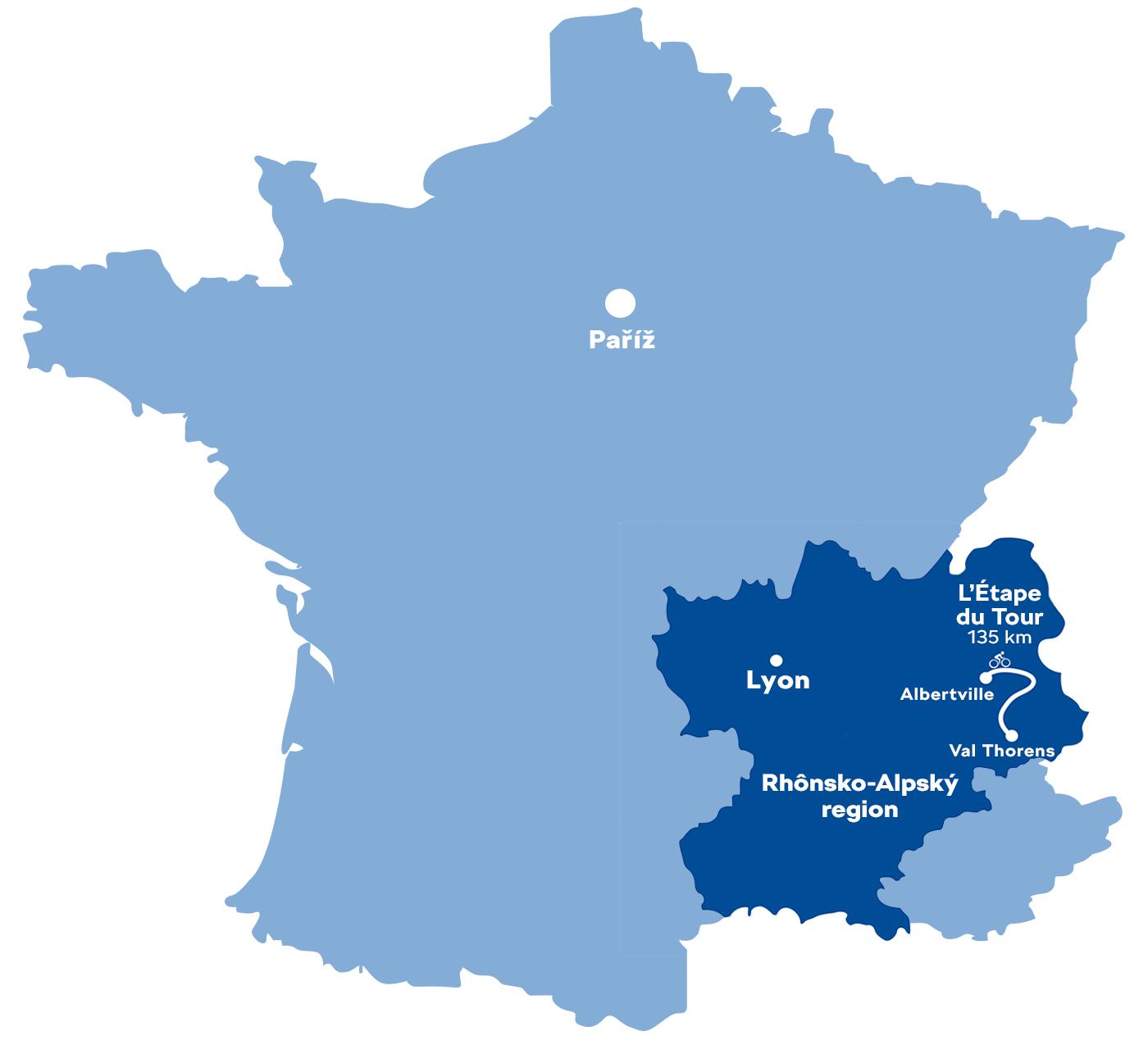 Mapa L'Étape du Tour
