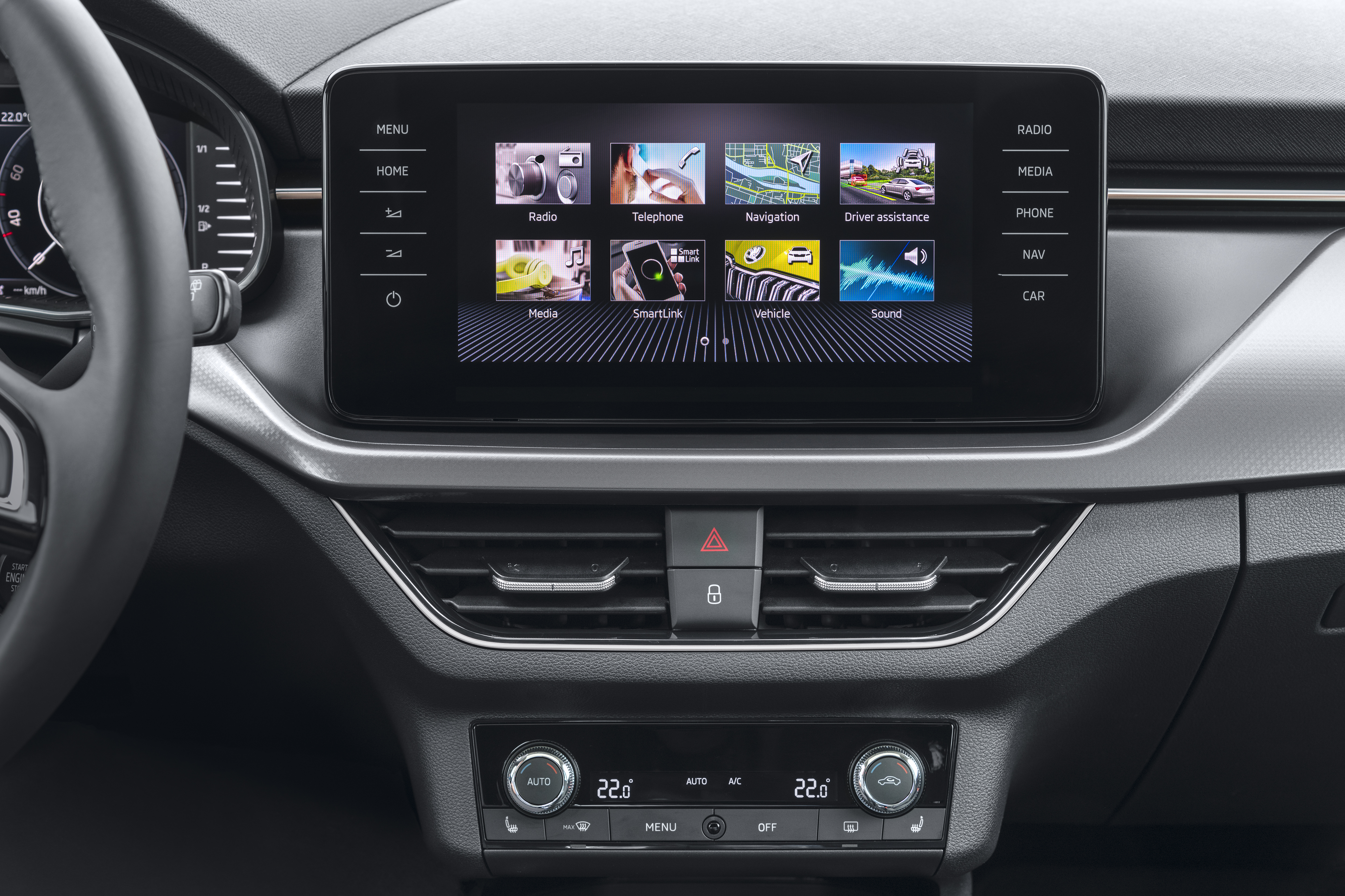 Connectivity: Largest display in the segment and new ŠKODA