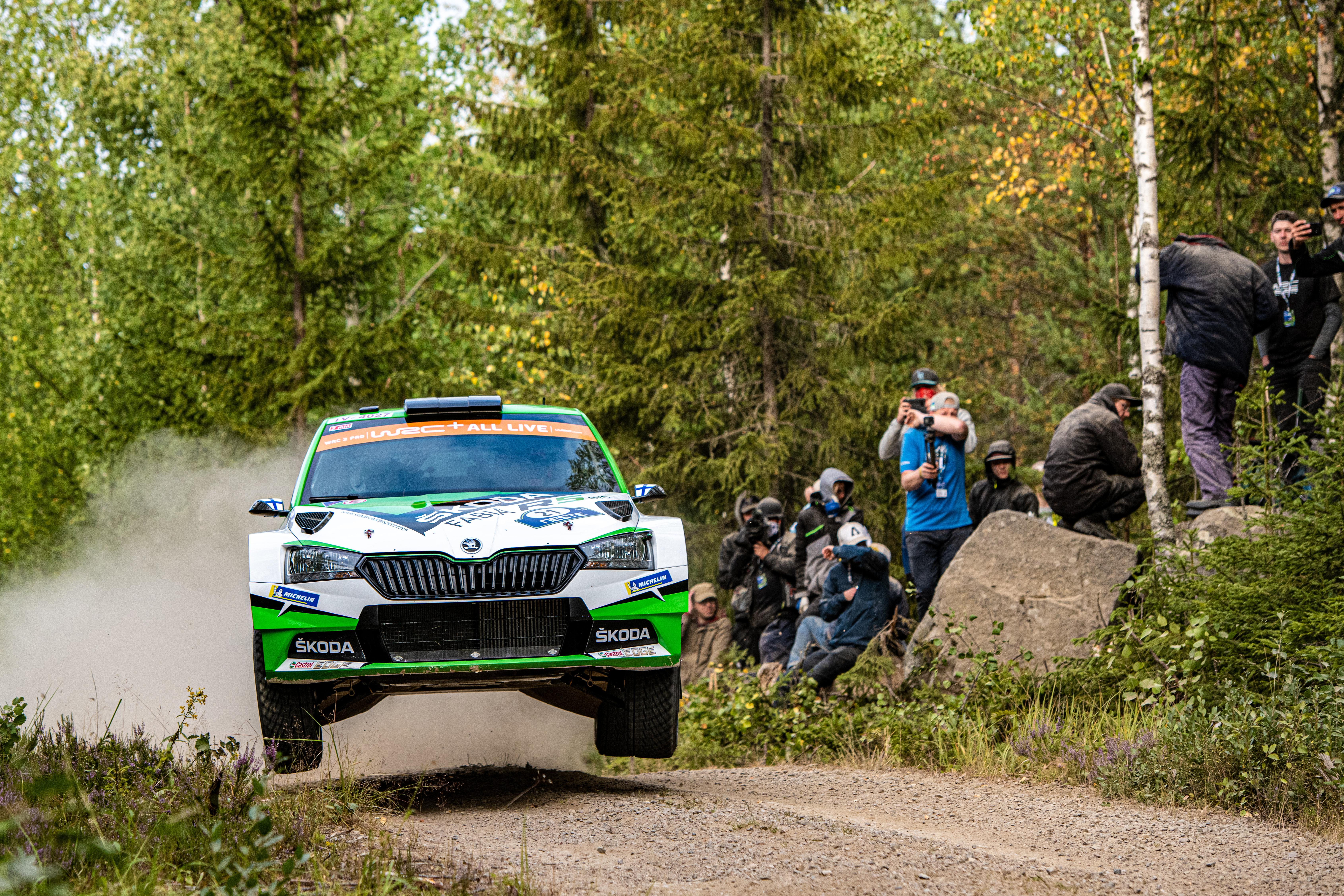 Category/skoda >> Neste Rally Finland Rovanpera Keeps Everything Under