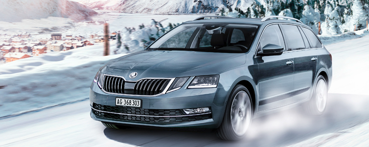 number-plate-skoda-octavia-car-winter-switzerland