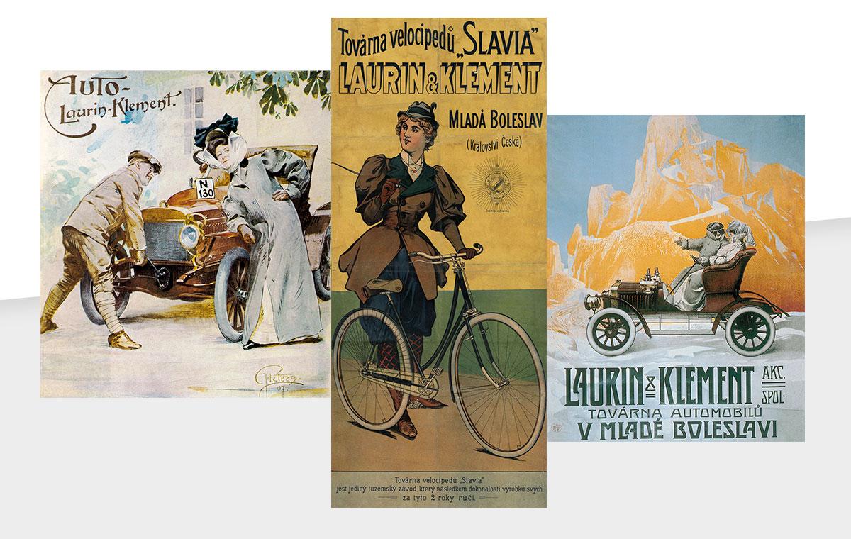 Plakáty Laurin & Klement