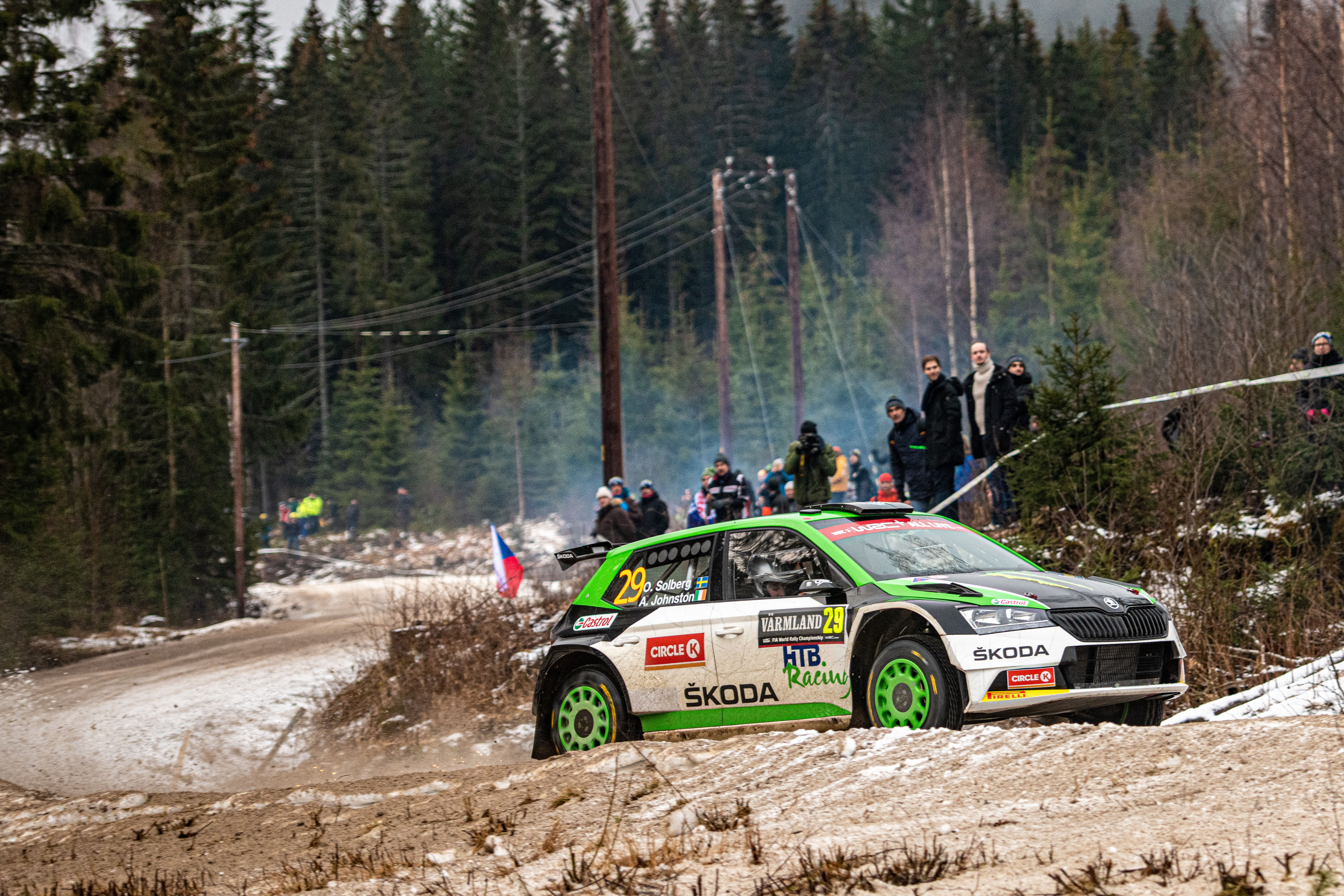 Rally Sweden/WRC3: SKODA privateer Lindholm in fight for victory – Solberg holds third at SKODA debut - Image 2