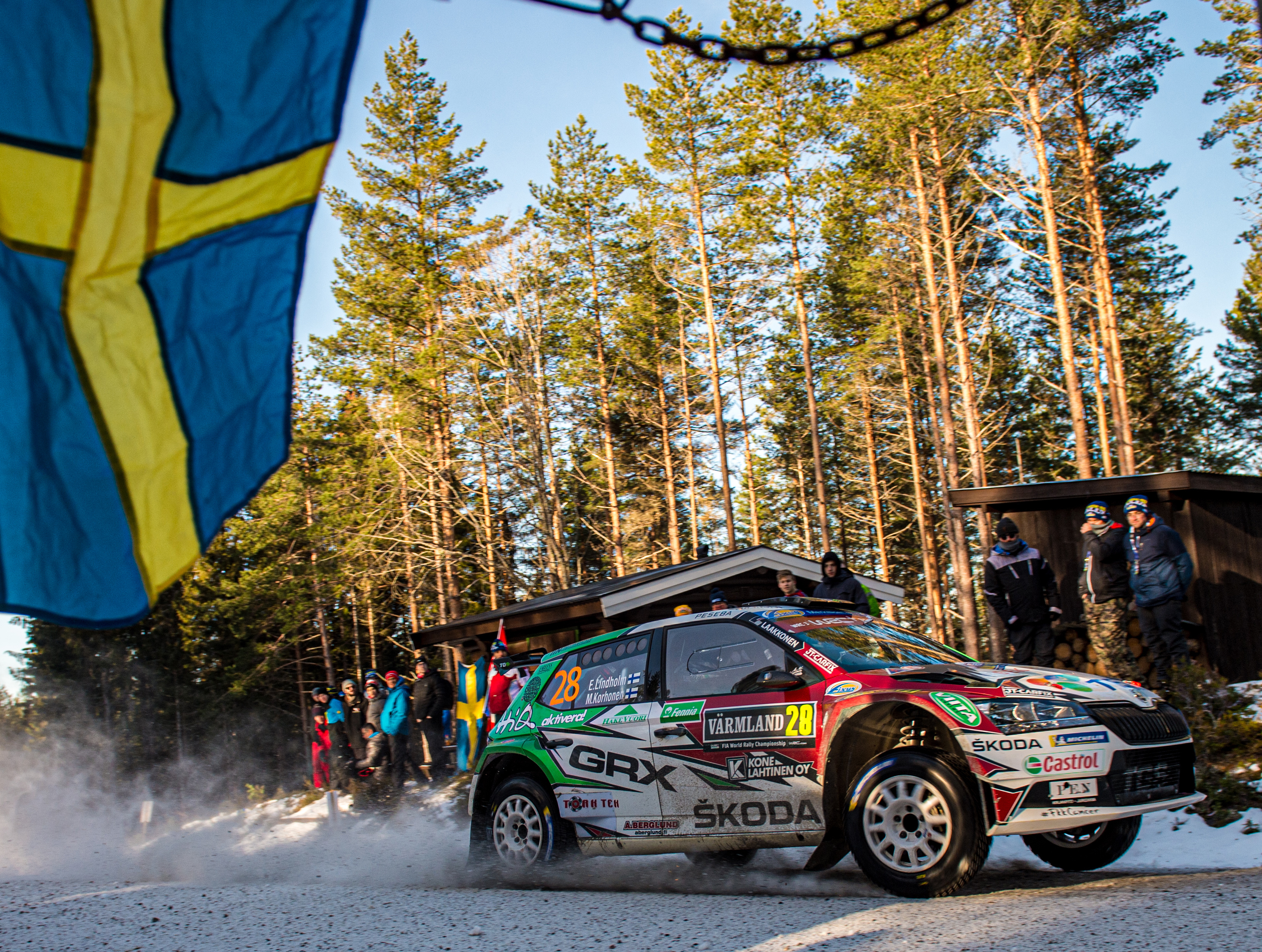 Rally Sweden/WRC3: SKODA privateers Emil Lindholm and Oliver Solberg finish second and fifth - Image 2