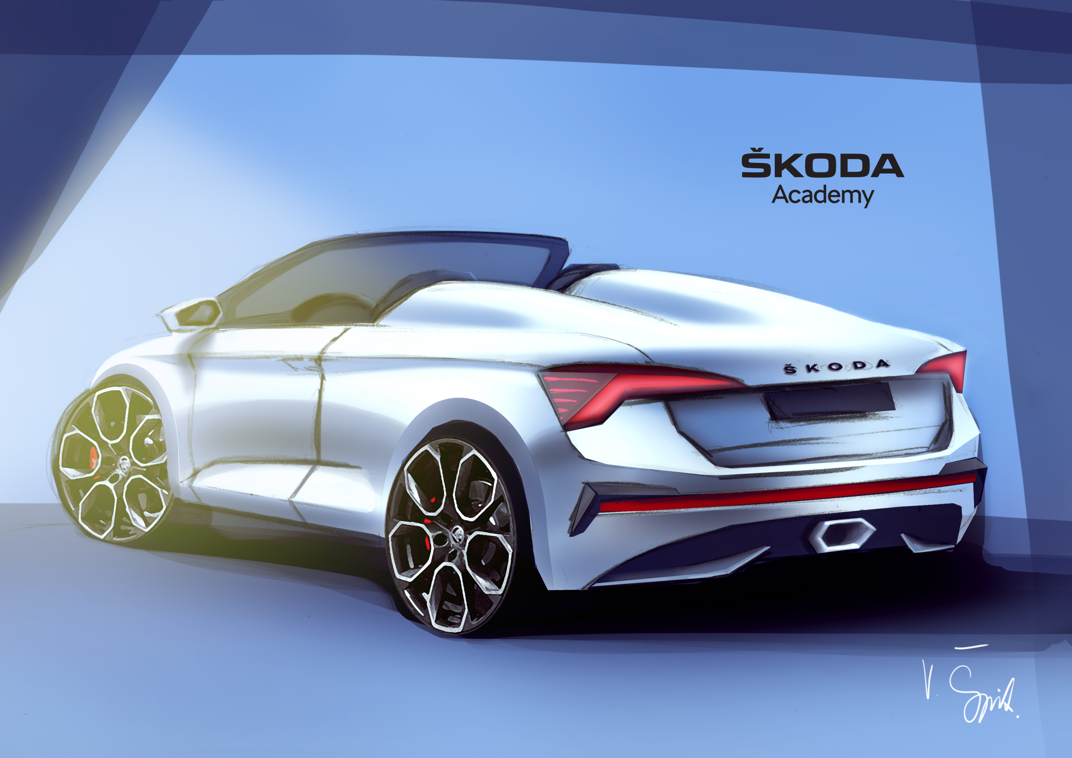 Seventh Skoda Student Concept Car Is Taking Shape Students Are Working On A Spider Variant Of The Skoda Scala Skoda Storyboard