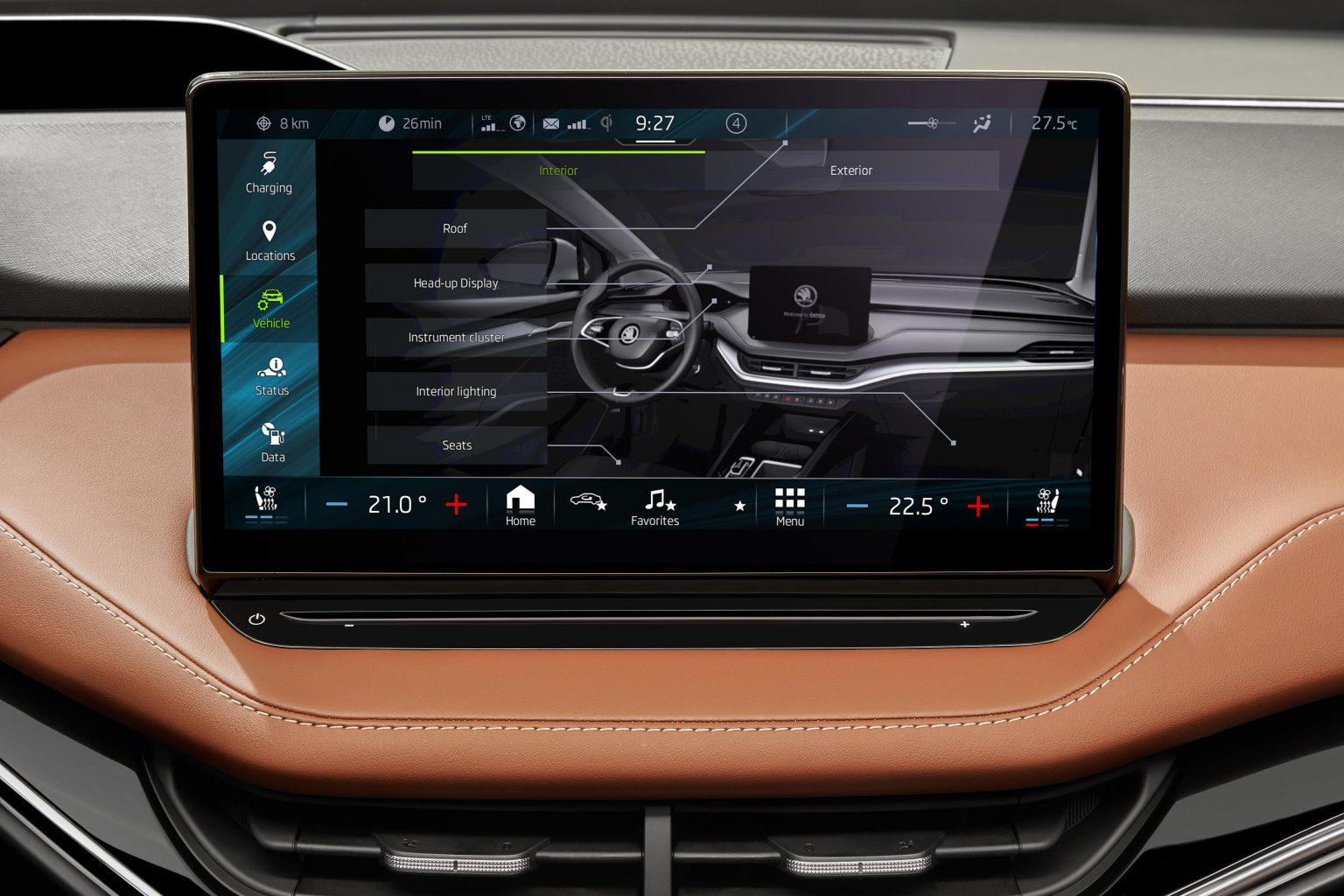 Enyaq interface multimedia